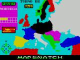 Mapsnatch ZX Spectrum The player is moving armies into Norway where there are currently three armies, as shown by the three yellow squares in the grid on the left