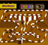 Ivan 'Ironman' Stewart's Super Off Road NES A typical race, all the cars jammed together