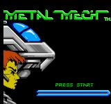MetalMech: Man & Machine NES Title Screen