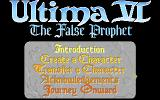Ultima VI: The False Prophet Amiga Title screen