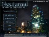Nocturnal: Boston Nightfall Macintosh Main menu
