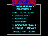 Chain Reaction ZX Spectrum Main menu