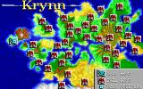 DragonStrike Amiga Map of Krynn