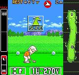 Neo Turf Masters Neo Geo Pocket Color Making adjustments before hitting the ball