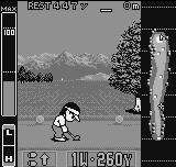 Neo Turf Masters Neo Geo Pocket Color Preparing to hit the first ball at the Germany course (Neo Geo Pocket)