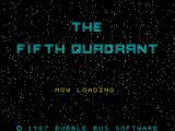 The Fifth Quadrant ZX Spectrum Title / Loader