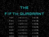 The Fifth Quadrant ZX Spectrum High scores - MBG