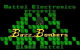 Buzz Bombers Intellivision Title screen