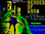 Heroes of Karn ZX Spectrum Title / loader