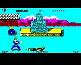Kung-Fu: The Way of the Exploding Fist BBC Micro Black fighter is knocked out (demo mode)