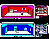 Spy vs Spy BBC Micro Black and White in the different rooms
