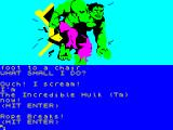 The Hulk ZX Spectrum Breaking free of the ropes and chair