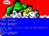 The Hulk ZX Spectrum Turning back into Bruce Banner