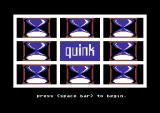 Quink Commodore 64 Title screen