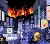 Snatcher SEGA CD A view of Neo Kobe, a city in futuristic Japan