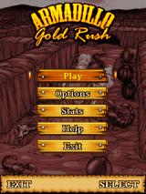 Armadillo Gold Rush J2ME Main menu