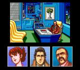 Snatcher SEGA CD During dialogues, character faces pop up in little windows