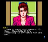Snatcher SEGA CD Talking to Mika
