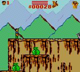 Cliffhanger Game Gear Onto the second area. MONEY!