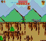 Cliffhanger Game Gear A wolf is attacking.