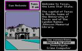 Where in the U.S.A. is Carmen Sandiego? DOS In Texas. (CGA with RGB monitor)