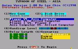 Typhoon of Steel Amiga Options and scenario selection
