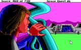 Space Quest III: The Pirates of Pestulon DOS Roger arrives at Scum Soft headquarters