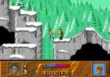 Cliffhanger Amiga About to get knocked off the edge by this bad guy.