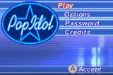 American Idol Game Boy Advance Title screen and main menu (Japanese version)