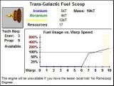 Stars! Windows 3.x Trans-Galactic Fuel Scoop - Engine that uses very little fuel up to Warp 6 and can generate fuel at Warp 1