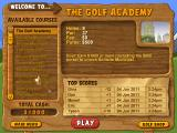 Fairway Solitaire Windows The first course, The Golf Academy.