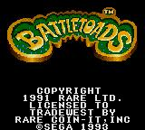 Battletoads Game Gear Title Screen