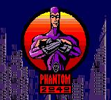Phantom 2040 Game Gear Title screen