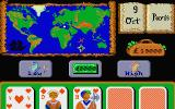 In 80 Days Around the World Atari ST Playing a simple card game of guess higher or lower