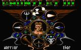 Gauntlet III: The Final Quest Atari ST Character selection screen