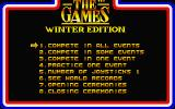 The Games: Winter Edition Atari ST Main menu