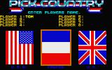The Games: Winter Edition Atari ST Country selection screen