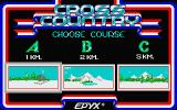 The Games: Winter Edition Atari ST Cross country course selection screen