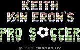 Keith Van Eron's Pro Soccer Commodore 64 Loading screen