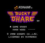 Bucky O'Hare NES Title Screen