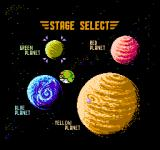 Bucky O'Hare NES Stage Select Screen