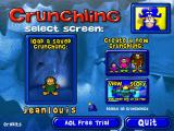 Cap'n Crunch's Crunchling Adventure Windows Menu