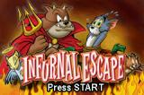 Tom and Jerry in Infurnal Escape Game Boy Advance Title screen (2)