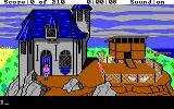 King's Quest III: To Heir is Human DOS Manannan's home. He's your not so friendly boss. (EGA/Tandy)