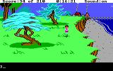 King's Quest III: To Heir is Human DOS Walking along near the beach. (EGA/Tandy)