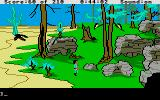 King's Quest III: To Heir is Human Atari ST Desert leads into rocky countryside.