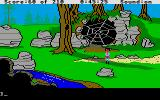 King's Quest III: To Heir is Human Atari ST Giant spider web.