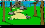 King's Quest III: To Heir is Human Atari ST Path leads up to mountain.
