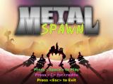 Metal Spawn Windows Title screen