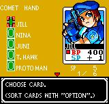 SNK vs. Capcom: Card Fighters' Clash - Capcom Cardfighter's Version Neo Geo Pocket Color Choosing cards  - here is Jill from Resident Evil